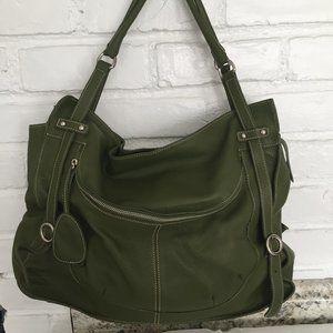 Vintage Furla Green Leather Handbag